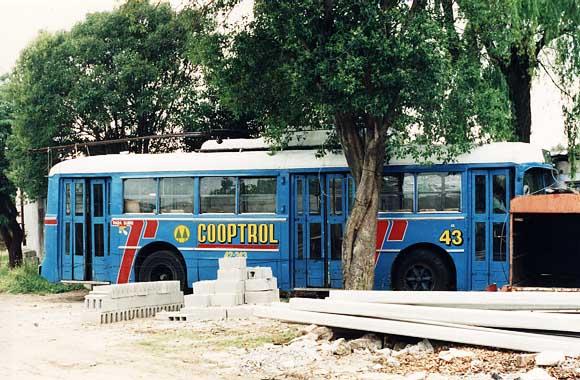 Coche 43 ya utilizado como oficina movil de una compañia de construccion - 21.11.1992 - Foto:  M. Benoit