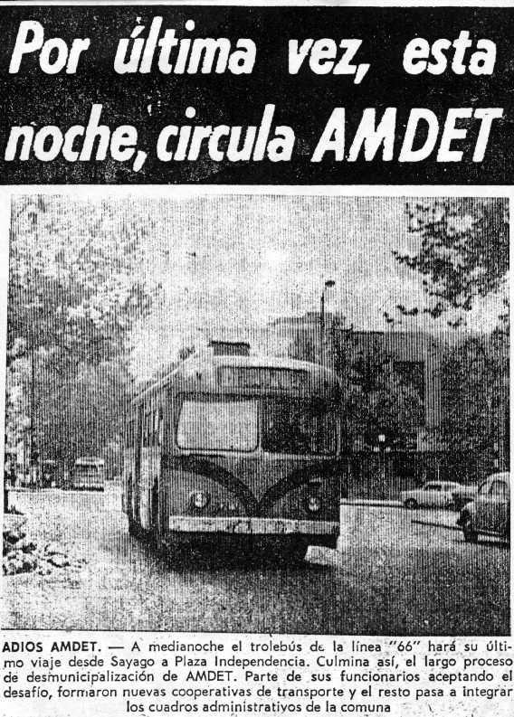 Ultimo día de circulacion de AMDET - Foto:  archivo A. Silva